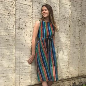9ec419d7435 Anthropologie Dresses - ANTHROPOLOGIE Rainbow Crochet Midi Dress